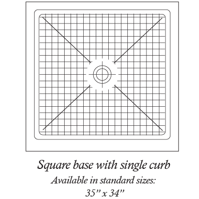 Square base with single curb