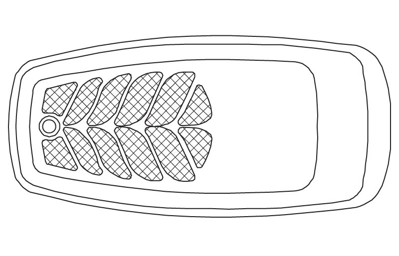 Illustration of a 61 inch by 31 inch Rectangle Drop-In Tub from the Vena and Quarzo Collections.