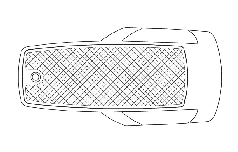 Illustration of a 74 inch by 36 inch Rectangle Drop-In Tub from the Vena and Quarzo Collections.
