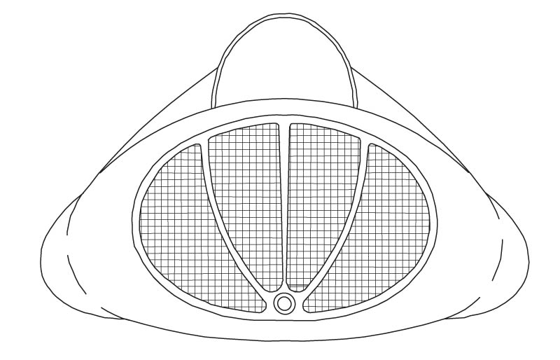 Illustration of a 60 inch by 60 inch Oval Corner Drop-In Tub from the Vena and Quarzo Collections.